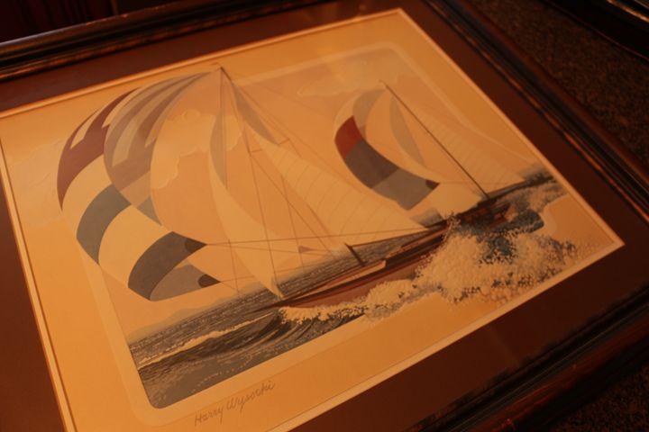 Harry Wysocki embossed lithograph - Marion N. Cothran Jr