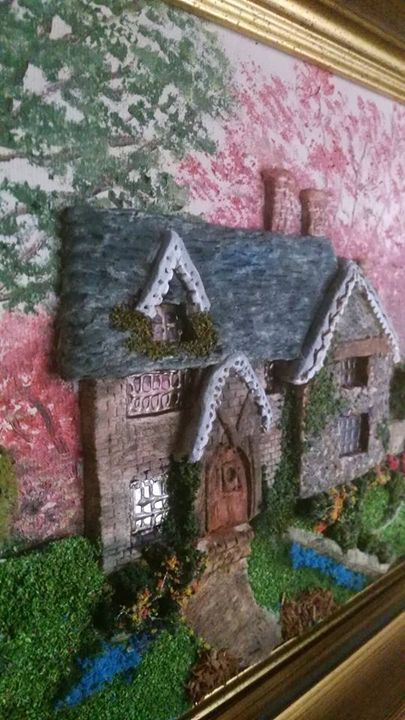 Cottage Sculpture Painting - Sandra's Art Creations