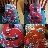 Painted dragon guitar