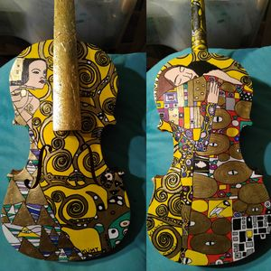Gustav KLIMT painted violin
