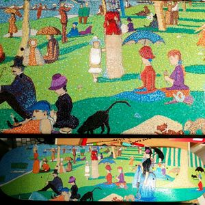 Seurat on skateboard