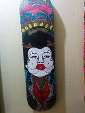 Rafael Colon skateboard art