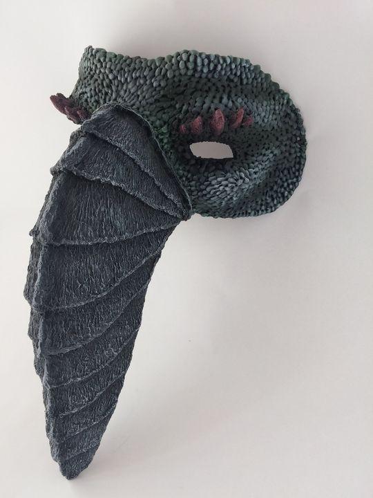 Halloween party paper mache mask - ivyartfactory