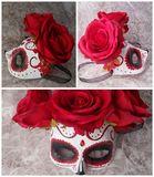 Halloween party paper mache mask