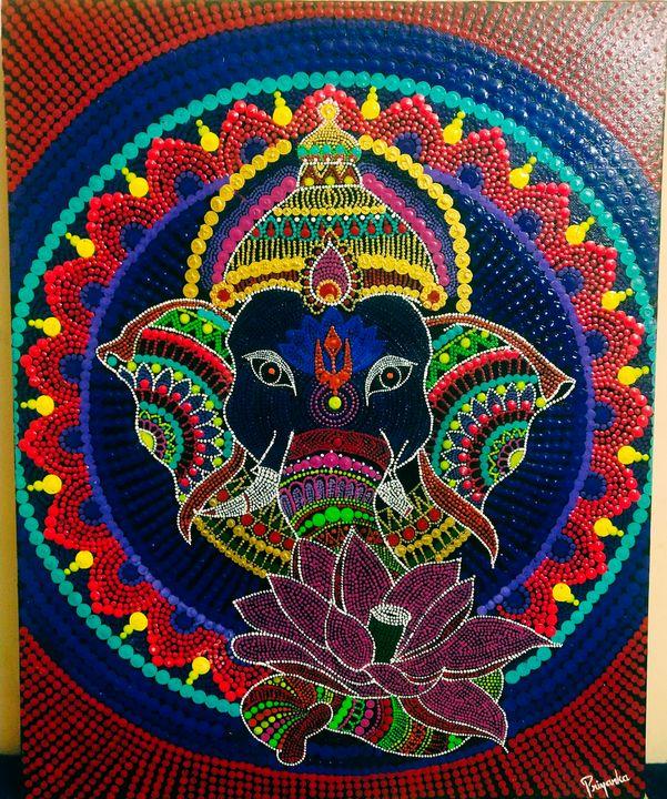 Ganpati mandala - Acrylicart
