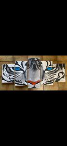 5 piece canvas tiger