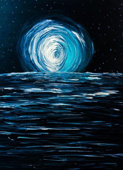 The Dance of the Moon and Ocean - Sisu Art