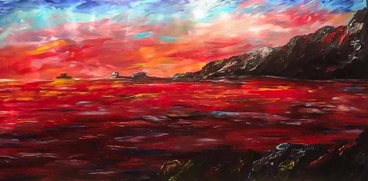 Ocean on Fire - Sisu Art