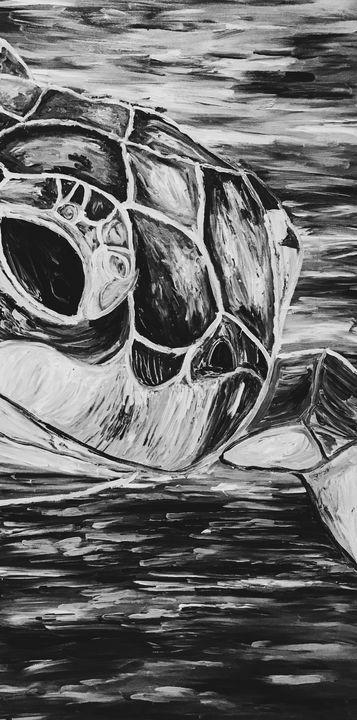 La Tortuga #2 Black and White - Sisu Art