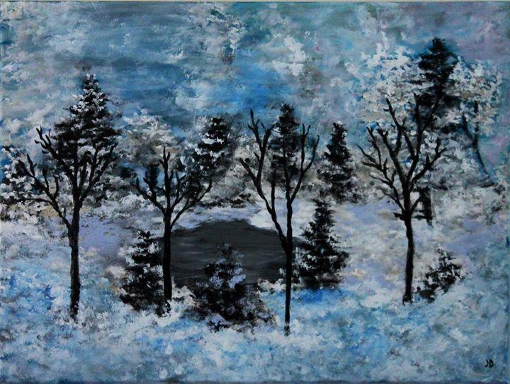 Ann's winter wonderland - Art by Joanna DeRitis