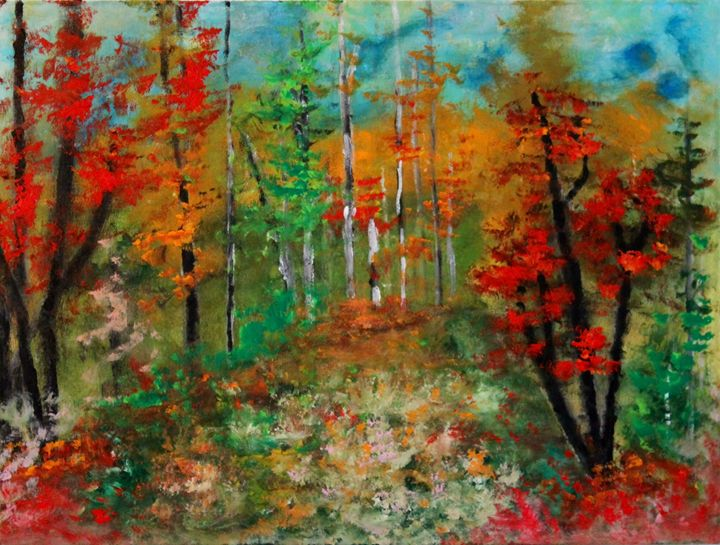 Autumn pathway - Art by Joanna DeRitis