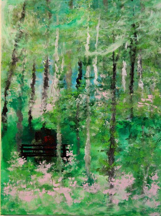 Mystical park - Art by Joanna DeRitis