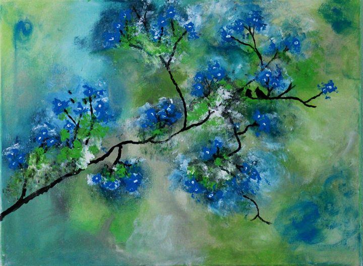 Tree of blue - Art by Joanna DeRitis