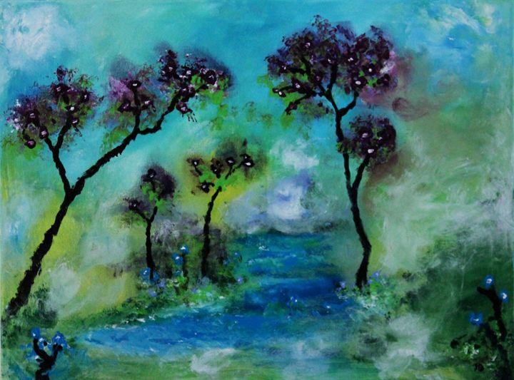 The purple tree - Art by Joanna DeRitis