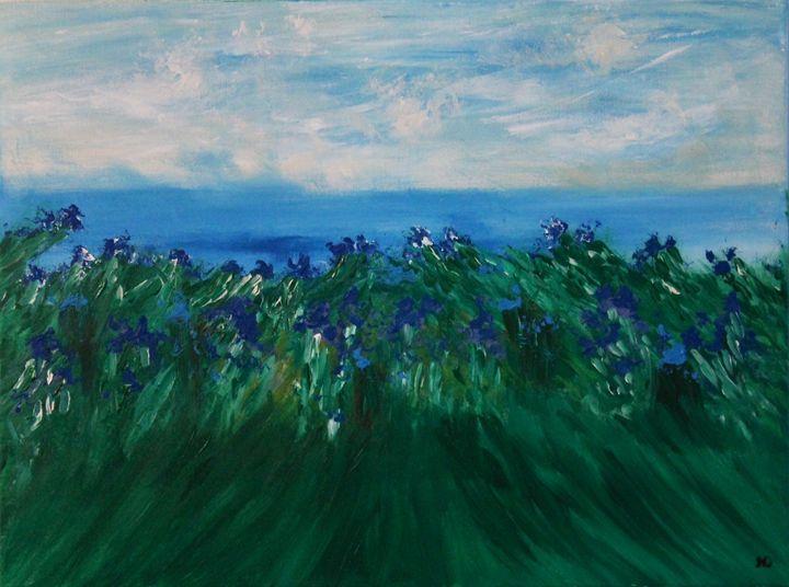 Flowers of blue - Art by Joanna DeRitis