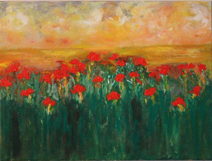 Flowers in bloom - Art by Joanna DeRitis