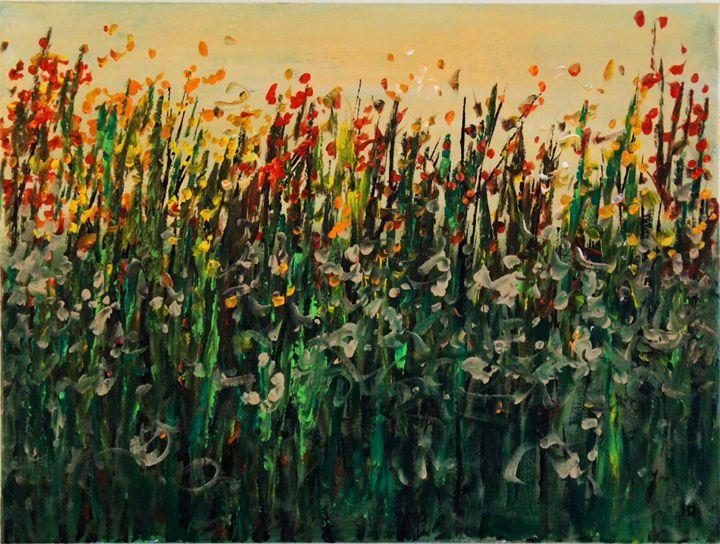 Fall flowers - Art by Joanna DeRitis