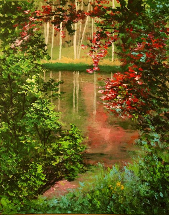 Mid summer tranquility - Art by Joanna DeRitis