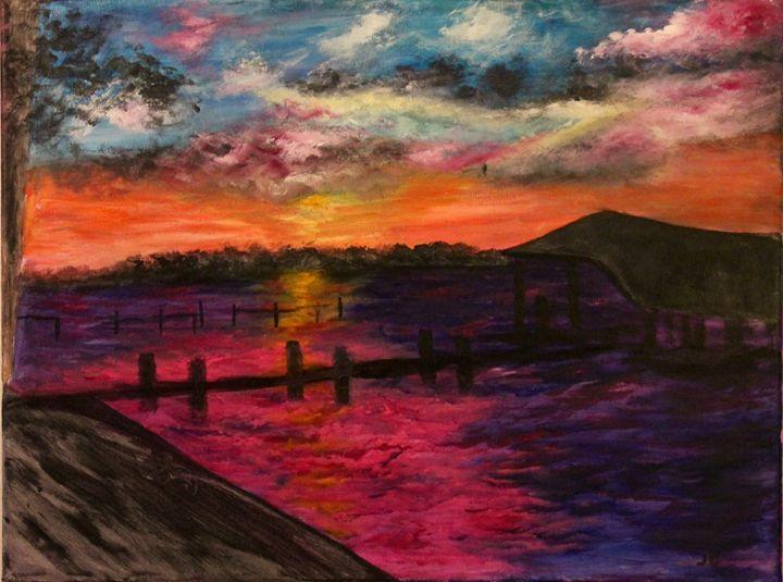 The summer boathouse - Art by Joanna DeRitis