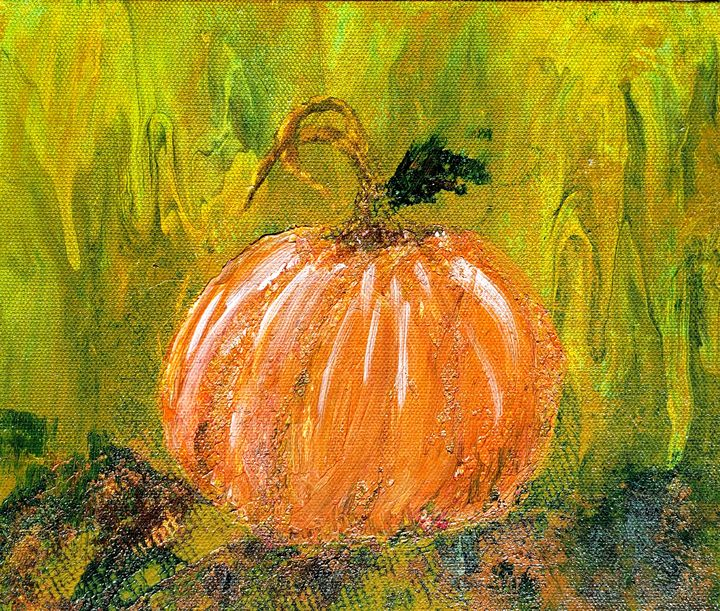 Autumn Pumpkin - Living Art by Brenda