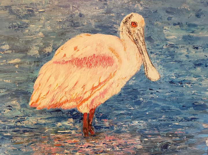 Roseate Spoonbill - Living Art by Brenda