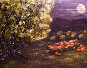 Harvest Under a Full Moon - Living Art by Brenda