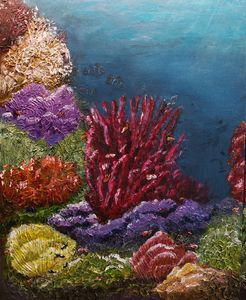 Coral Life Under the Sea 1 - Living Art by Brenda