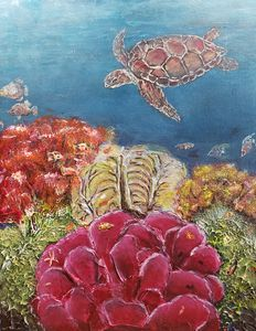 Coral Life Under the Sea 2 - Living Art by Brenda