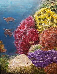 Coral Life Under the Sea 3 - Living Art by Brenda