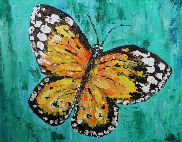 Abstract Monarch Butterfly - Living Art by Brenda