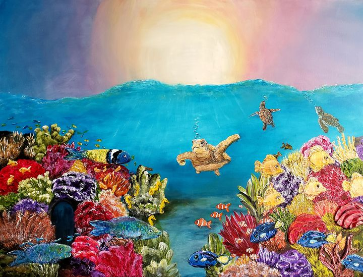 Life in the Coral Reef - Living Art by Brenda