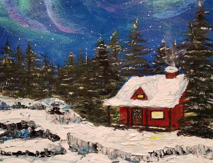 Aurora Borealis in Norway - Living Art by Brenda