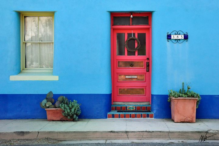 Barrio Door Pink - Mark Valentine Photography