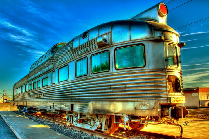 California Zephyr into the Sun - Mark Valentine Photography