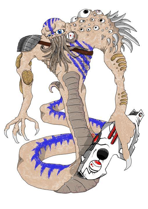 Alien Warrior Ralph - Robert Chapman Artworks