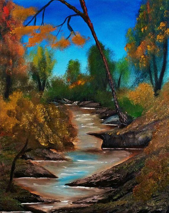 Vibrant Stream - Andrews Handmade Art