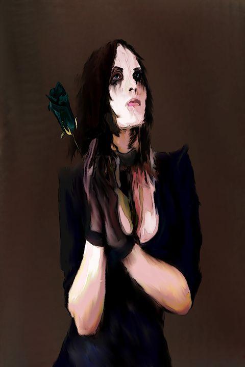 A Black Rose - Indestructible Art