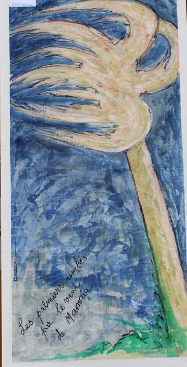 Les palmiers courbes par le vent - Alfonso Baldari
