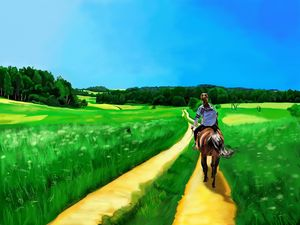 Riding on the Country Side