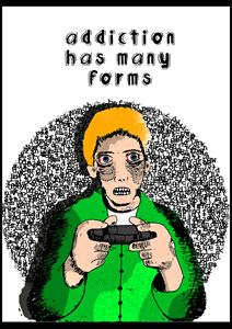 Video Game Addicts Portrait