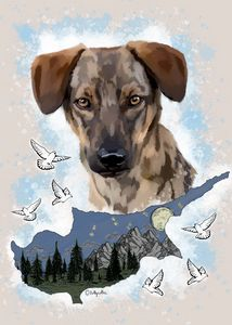 Customized Dog Portrait