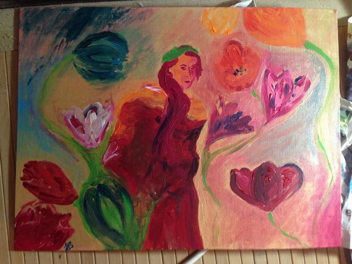 Flower Girl - Felizia Bade ArtGallery