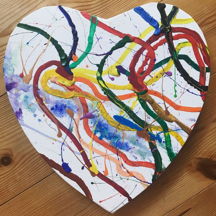 Colourful Heart - Felizia Bade ArtGallery