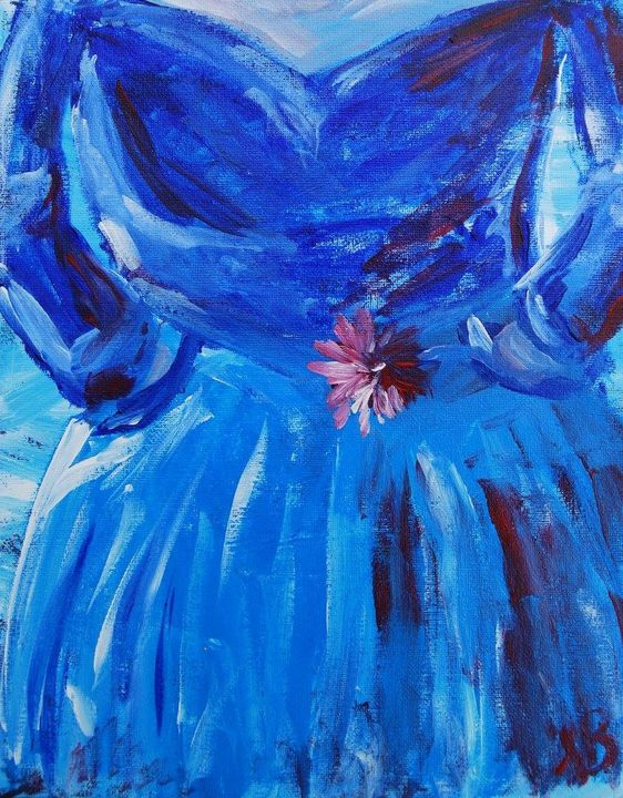 Blue Dress - Felizia Bade ArtGallery