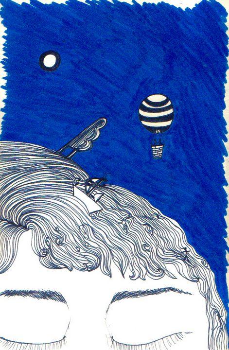 Dreaming Blue - Felizia Bade ArtGallery