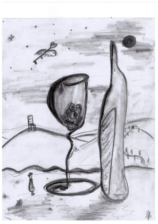 Flower in a Glass - Felizia Bade ArtGallery