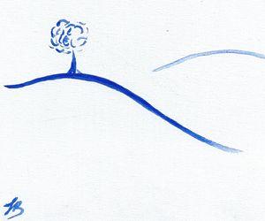 Blue Simplicity - Felizia Bade ArtGallery