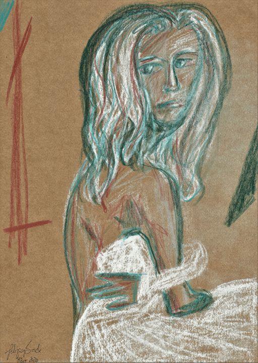 Cinderella after she lost her shoe - Felizia Bade ArtGallery