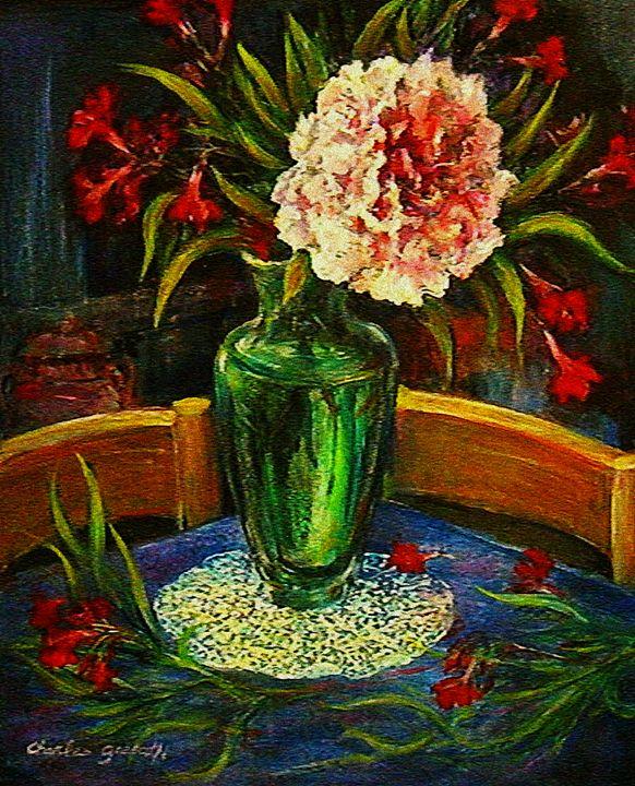 Green Vase by Charles Gresalfi - Charles Gresalfi Fine Art