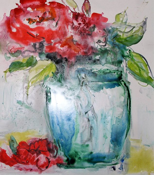 Floral Still Life Watercolor - Charles Gresalfi Fine Art